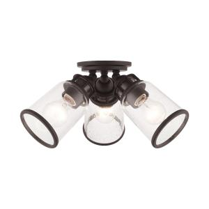 Lawrenceville - 3 Light Flush Mount in Lawrenceville Style - 16.38 Inches wide by 8 Inches high