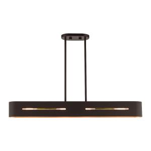 Rave - 4 Light Linear Chandelier in Rave Style - 4.5 Inches wide by 11 Inches high