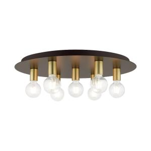 Hillview - 7 Light Flush Mount in Hillview Style - 24 Inches wide by 3.63 Inches high