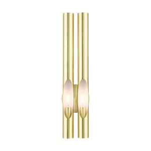 Acra - 2 Light ADA Wall Sconce in Acra Style - 5.13 Inches wide by 22 Inches high