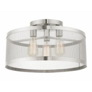 Industro - 18 Inch Three Light Semi-Flush Mount