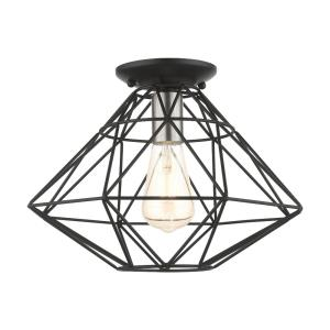 Geometric - 1 Light Flush Mount in Geometric Style - 13.5 Inches wide by 9.5 Inches high