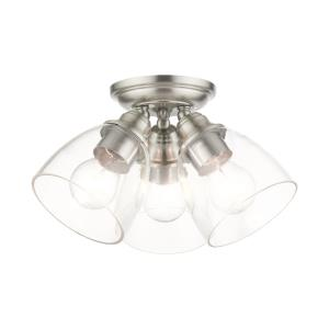 Montgomery - 3 Light Flush Mount in Montgomery Style - 14.25 Inches wide by 7.5 Inches high