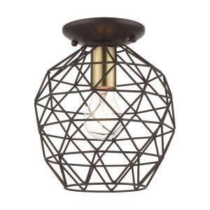 Geometrix - 1 Light Flush Mount