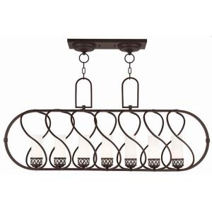 Westfield - 7 Light Linear Chandelier in Westfield Style - 14.25 Inches wide by 22 Inches high