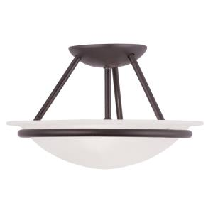 Newburgh - 2 Light Semi-Flush Mount in Newburgh Style - 12 Inches wide by 7 Inches high