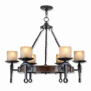 Cape May - 6 Light Chandelier in Cape May Style - 30 Inches wide by 25.5 Inches high