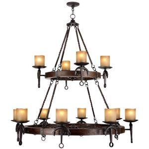 Cape May - 12 Light Chandelier in Cape May Style - 47.5 Inches wide by 40.5 Inches high