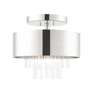Orenburg - 3 Light Semi-Flush Mount in Orenburg Style - 13 Inches wide by 11.75 Inches high