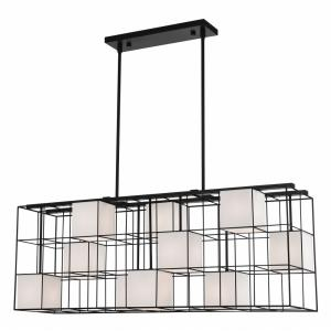 Trondheim - 10 Light Linear Chandelier in Trondheim Style - 10.5 Inches wide by 25.5 Inches high