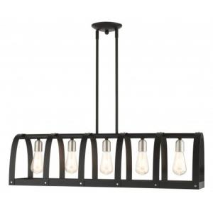 Stoneridge - 5 Light Linear Chandelier in Stoneridge Style - 8.5 Inches wide by 17 Inches high