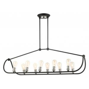 Archer - 10 Light Linear Chandelier in Archer Style - 16.5 Inches wide by 23 Inches high