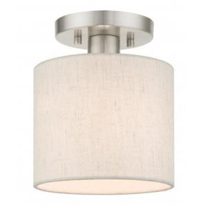 Meadow - 7 Inch 1 Light Semi-Flush Mount