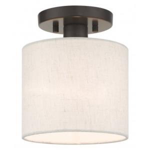 Meadow - 1 Light Semi-Flush Mount in Meadow Style - 7 Inches wide by 8.5 Inches high