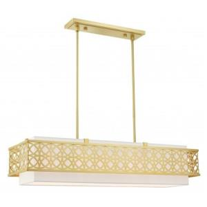 Calinda - 6 Light Linear Chandelier in Calinda Style - 12 Inches wide by 11 Inches high