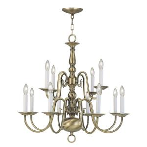 Williamsburg - Twelve Light 2-Tier Chandelier