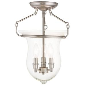 Canterbury - 3 Light Semi-Flush Mount in Canterbury Style - 12 Inches wide by 16 Inches high
