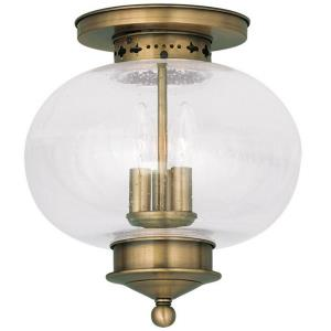 Harbor - 3 Light Flush Mount in Harbor Style - 11 Inches wide by 11.5 Inches high