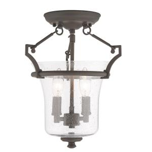 Buchanan - 2 Light Semi-Flush Mount in Buchanan Style - 11 Inches wide by 13.25 Inches high