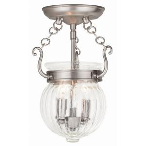 Everett - 2 Light Semi-Flush Mount in Everett Style - 15 Inches wide by 12.5 Inches high