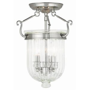 Coventry - 3 Light Semi-Flush Mount in Coventry Style - 10 Inches wide by 14 Inches high