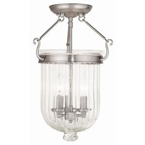 Coventry - 3 Light Semi-Flush Mount in Coventry Style - 12 Inches wide by 17 Inches high