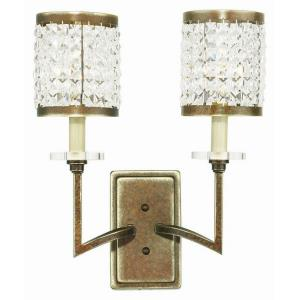 Grammercy - 2 Light Wall Sconce in Grammercy Style - 14 Inches wide by 17 Inches high