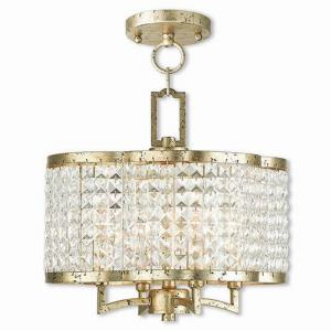 Grammercy - 4 Light Convertible Mini Chandelier in Grammercy Style - 14 Inches wide by 13.5 Inches high