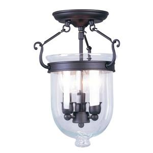 Jefferson - Three Light Semi-Flush Mount