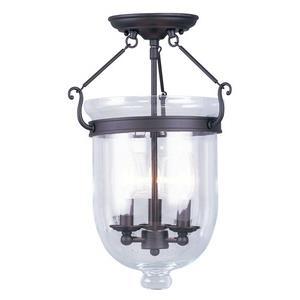 Jefferson - Three Light Semi-Flush Mount