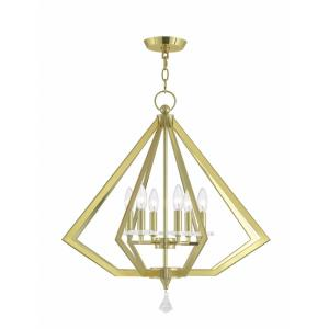 Diamond - 6 Light Chandelier in Diamond Style - 25 Inches wide by 26 Inches high