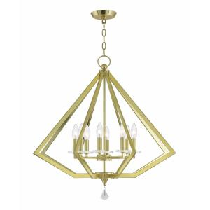 Diamond - 8 Light Chandelier in Diamond Style - 28 Inches wide by 28 Inches high