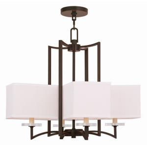 Woodland Park - Four Light Chandelier in Woodland Park Style - 24.5 Inches wide by 21 Inches high