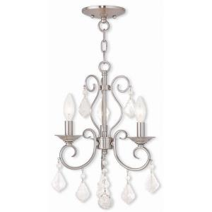 Donatella - 3 Light Convertible Mini Chandelier in Donatella Style - 12 Inches wide by 17 Inches high