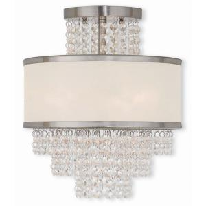 Prescott - 3 Light Semi-Flush Mount in Prescott Style - 11.75 Inches wide by 13.38 Inches high