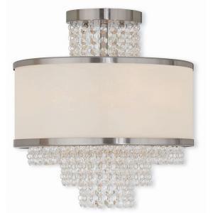 Prescott - 3 Light Semi-Flush Mount in Prescott Style - 13.75 Inches wide by 14.38 Inches high