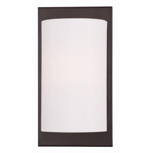 Meridian - 1 Light Wall Sconce in Meridian Style - 6 Inches wide by 11 Inches high