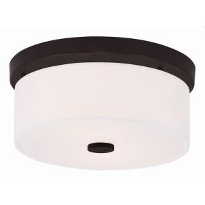 Meridian - 2 Light Flush Mount in Meridian Style - 11 Inches wide by 5 Inches high