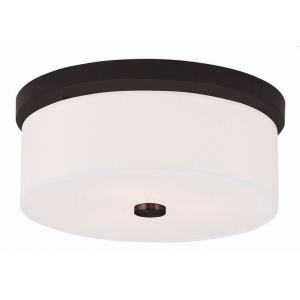 Meridian - 2 Light Flush Mount in Meridian Style - 13.5 Inches wide by 5.5 Inches high