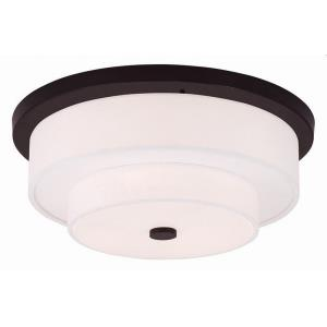 Meridian - 4 Light Flush Mount in Meridian Style - 17.75 Inches wide by 7 Inches high