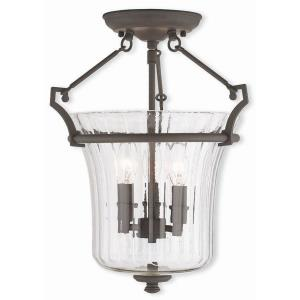 Cortland - 3 Light Semi-Flush Mount in Cortland Style - 13 Inches wide by 16 Inches high