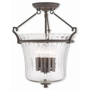Cortland - 4 Light Semi-Flush Mount in Cortland Style - 15.5 Inches wide by 17 Inches high