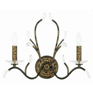 Serafina - 2 Light Wall Sconce in Serafina Style - 18.5 Inches wide by 15 Inches high