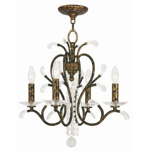 Serafina - 4 Light Mini Chandelier in Serafina Style - 20 Inches wide by 19 Inches high