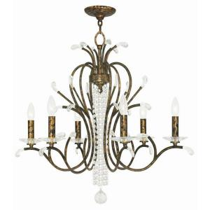 Serafina - 6 Light Chandelier in Serafina Style - 28 Inches wide by 26 Inches high