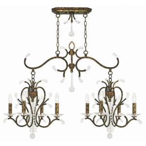 Serafina - 8 Light Linear Chandelier in Serafina Style - 20 Inches wide by 29 Inches high
