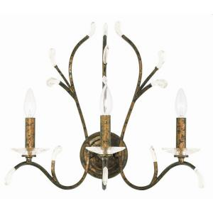 Serafina - 3 Light Wall Sconce in Serafina Style - 19.75 Inches wide by 18 Inches high