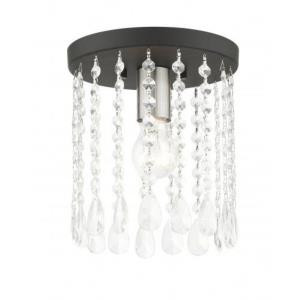Elizabeth - 1 Light Petite Flush Mount in Elizabeth Style - 8 Inches wide by 9.25 Inches high