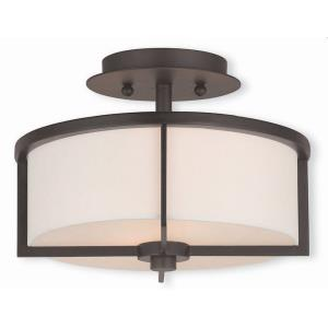 Wesley - 2 Light Semi-Flush Mount in Wesley Style - 11 Inches wide by 8 Inches high
