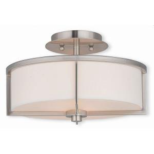 Wesley - 2 Light Semi-Flush Mount in Wesley Style - 13 Inches wide by 8 Inches high